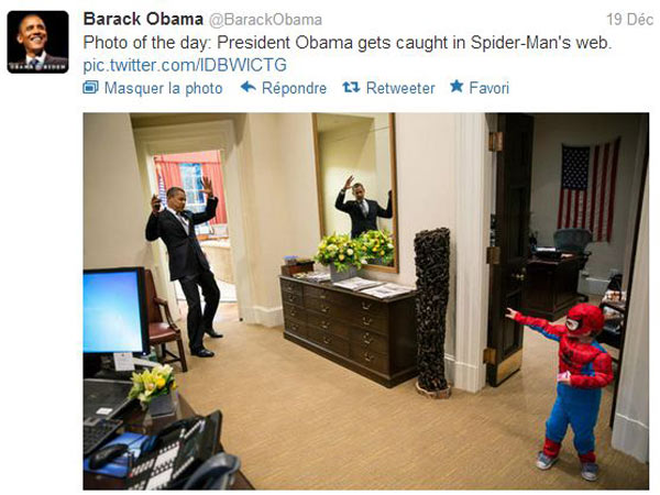 Obama et Spider-Man